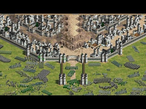 (New) Epic siege of minas tirith - age of empires 2 hd (4k gameplay)