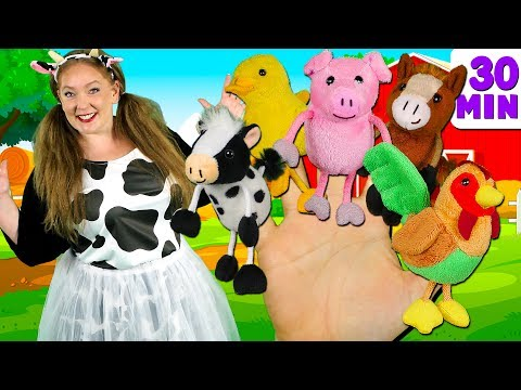 (VFHD Online) Farm animals finger family and more animals songs | finger family collection - learn animals sounds