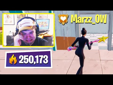 (VFHD Online) Everyone *concerned* after 250,000 arena points player marzz_ow couldnt stop crying live on stream!