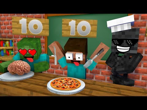 (New) Monster school : cooking challenge new episode - minecraft animation