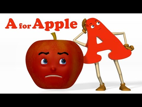 (VFHD Online) A for apple | alphabet abc songs | phonics song - 3d abc songs e rhymes for children
