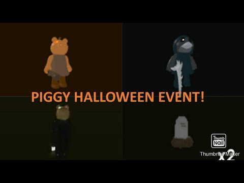(HD) Piggy halloween event 🎃👻 | skins and traps showcase