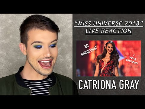 (New) Catriona gray reaction    miss universe 2018 highlights    absolutely blown away!    first reaction