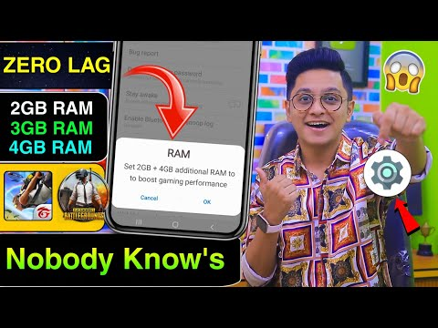 (New) Add 4gb extra ram in any phone using 1 trick | boost free fire e pubg gaming performance tip 2021