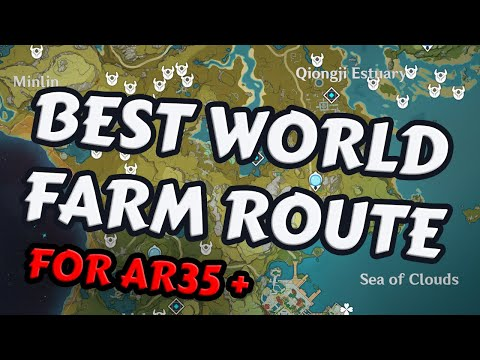 (New) Fast farm route - artifacts   materials - genshin impact global