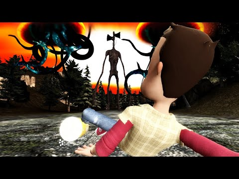 (New) Siren head and a giant monster do battle in gmod?! (garrys mod multiplayer gameplay roleplay)