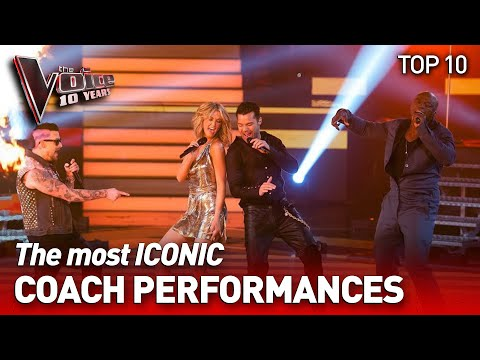 (New) The most iconic coaches performances on the voice | the voice 10 years