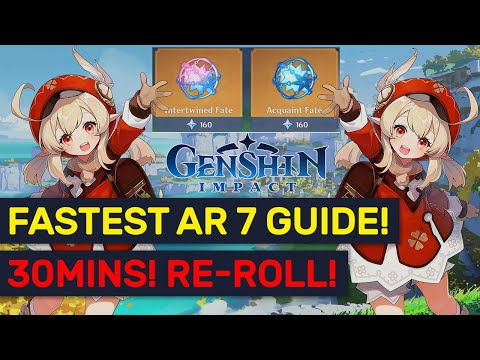 (New) Fastest 30min ar7 re-roll guide! new pathing e full time stamps! | genshin impact