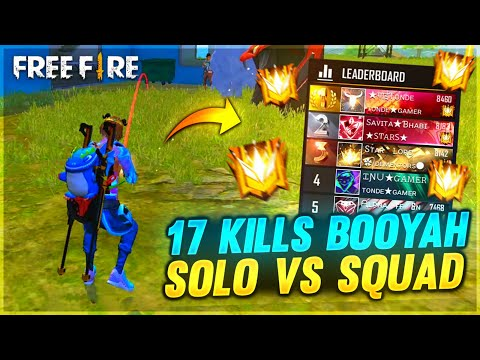 (New) First solo vs squad ranked game play in grand master - top 1 in global || garena free fire
