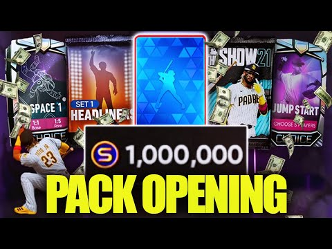 (New) 1 million stub pack opening! mlb the show 21 diamond dynasty