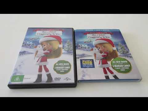 (VFHD Online) Unboxing: mariah careys all i want for christmas is you movie dvd   blu-ray collection
