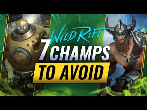 (VFHD Online) 7 champions to avoid in wild rift (patch 2.1b update - lol mobile)