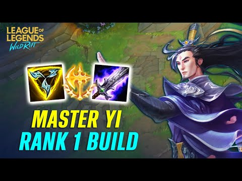 (New) Is best build for master yi in wild rift? | top 1 sever jungle build (full guide gameplay)