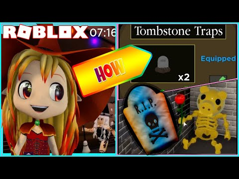 (HD) 🐷 roblox piggy! how to get secret tombstone trap!