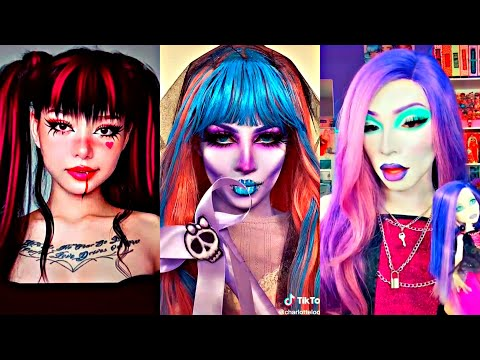 (New) Monster high cosplay | tiktok halloween makeup