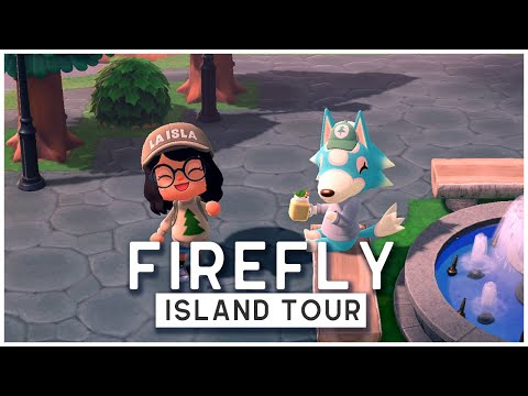 (New) 5 star animal crossing new horizons island tour: firefly (500+ hours!) - camping outdoor inspired!