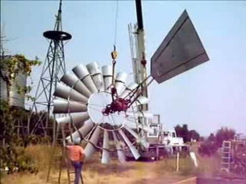 (New) Taking down a large aermotor windmill