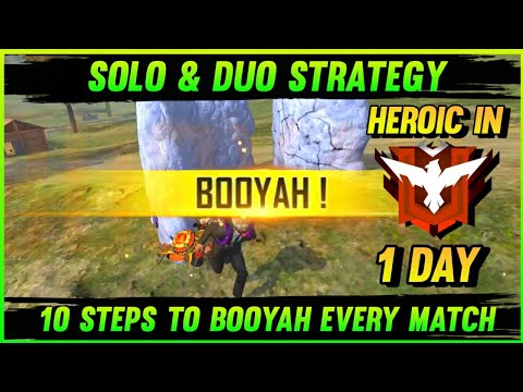 (New) Booyah every solo and duo ranked match | tips and tricks in free fire