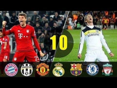(New) ►► top 10 most thrilling ucl matches in football ● dramatic football moments