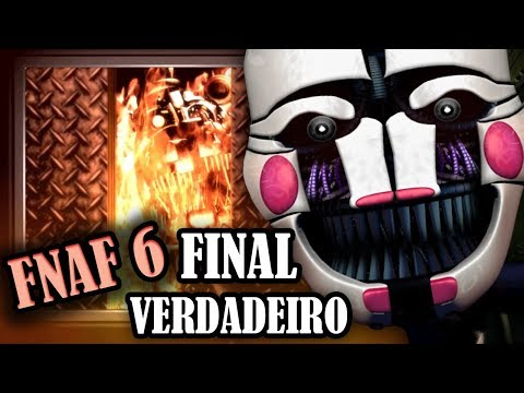 (New) Fnaf 6: final verdadeiro revela a história do puppet! (com legendas) - huestation