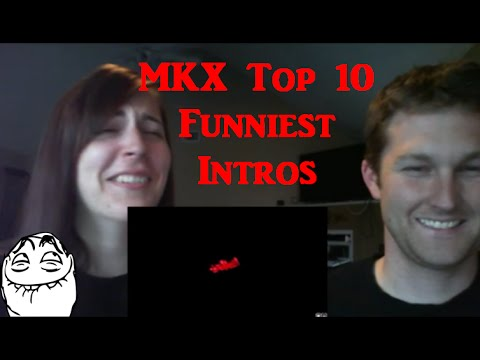 (New) Mkx top 10 funniest mirror match intros - reaction!