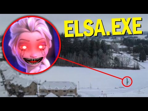 (New) Drone catches elsa.exe from frozen 2 in real life!! *elsa.exe came after us*