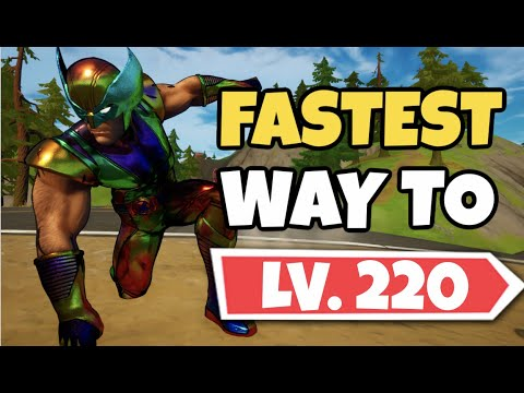 (New) Fastest way to get to level 220! best xp grinding in season 4! - fortnite