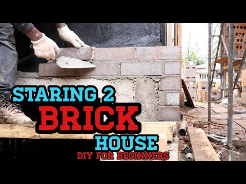 (HD) Bricklaying ( staring 2 new brick house ) all you need to know -
