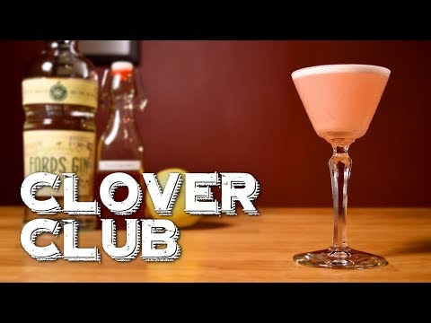 (HD) Clover club - how to make the pre-prohibition gin drink e the history behind it