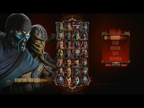 (New) Mortal kombat 9 - expert tag ladder (scorpion e sub-zero 3 rounds no losses)