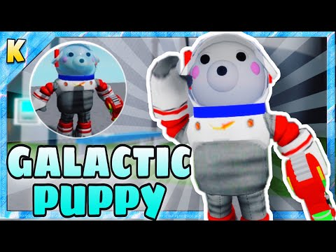 """(HD) How to get """"galactic puppy"""" badge + galactic puppy skin morph in piggy book 2 roleplay 