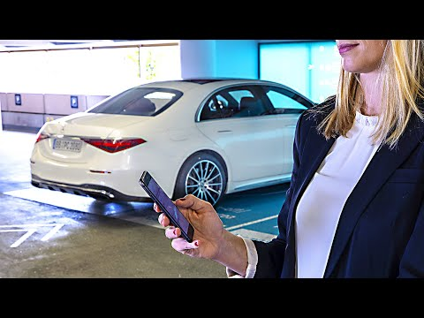 (New) Mercedes s-class (2021) automated parking demonstration