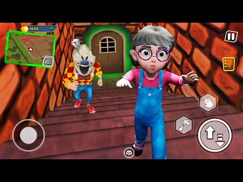 (New) Funny moments in dark riddle new hello neighbor and ice scream 3 in minecraft