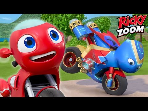 (New) Double episode special ❤️ ricky zoom ⚡cartoons for kids | ultimate rescue motorbikes for kids