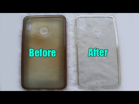 (New) Clean yellowness of transparent mobile cover | once you see the result you will never do without it!