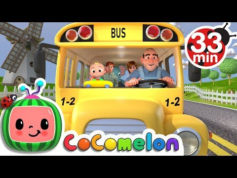 (New) Wheels on the bus + more nursery rhymes e kids songs - cocomelon