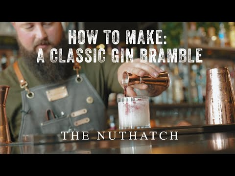 (New) How to make a classic gin bramble. cocktail masterclass from matt at the nuthatch
