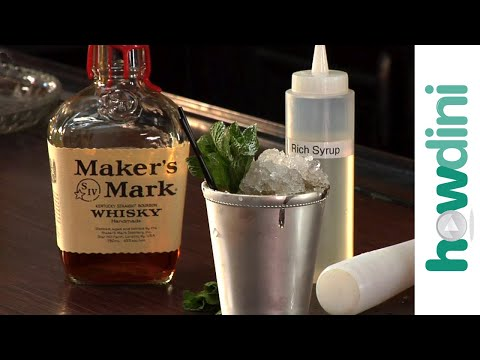 (HD) Mint julep cocktails: how to make a mint julep