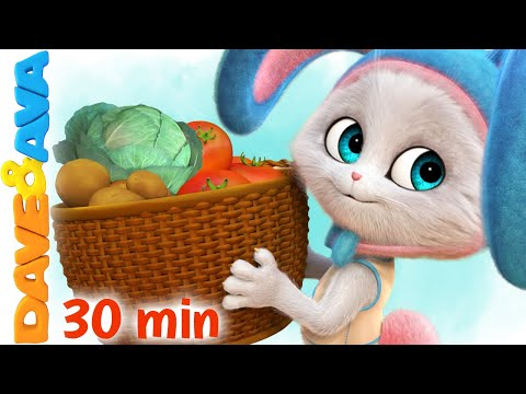 (New) 🥬 oh, john the rabbit | dave and ava nursery rhymes | kids songs 🥬