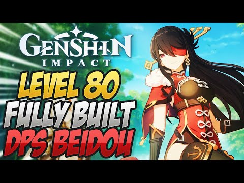 (New) Level 80 dps beidou build e showcase ar 40! genshin impact