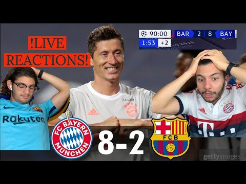 (New) 🚨 bayern munich humiliate barcelona in the champions league   live reactions (painful 🤬 )