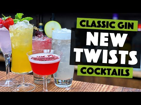 (New) 5 classic gin based cocktails - 2020 twists