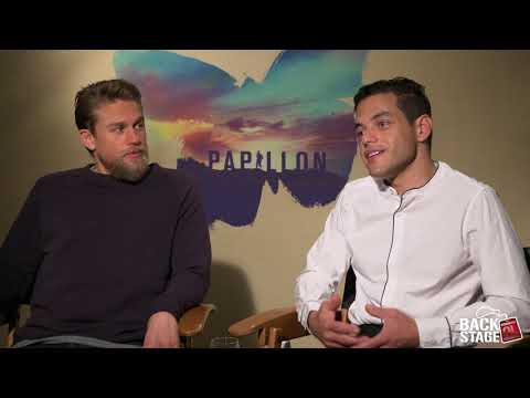 (New) Charlie hunnam starves for papillon, almost punches rami malek on set