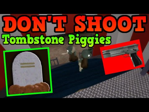 (New) What happens when you shoot a tombstone piggy! roblox piggy