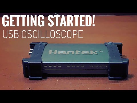 (HD) Getting started with usb oscilloscopes | set-up tutorial and attenuation | hantek 6022be unboxing