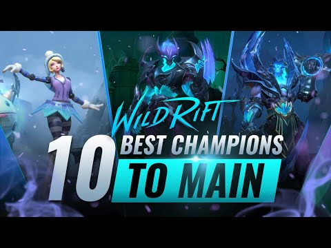 (VFHD Online) 10 best champions to main in wild rift (lol mobile)