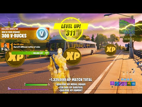 (New) How to level up fast in fortnite! (easy xp)