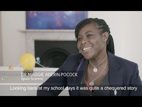 (HD) Dr maggie aderin-pocock mbe - made by dyslexia interview