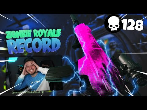(New) New world record in warzone - zombie royal (128 kill game)! cod: warzone gameplay