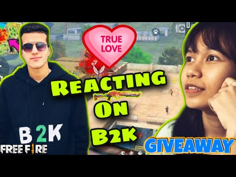 (New) Reacting on b2k - aka born born2kill | free fire garena by girlgotgun | world best free fire player